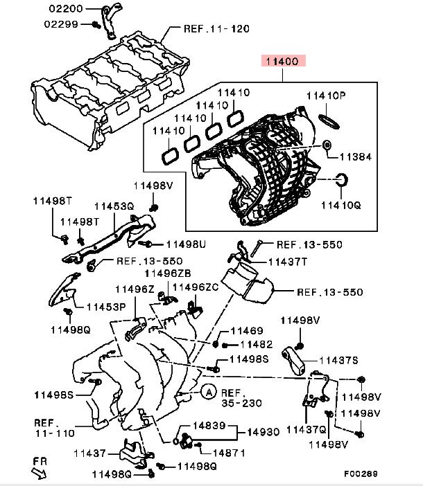 Inlet Manifold For Mitsubishi Delica D:5 Cv2w Cv4w Cv5w
