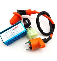 tc motor racing ignition coil 6 pins wires ac cdi box for chinese gy6 [ 1001 x 1001 Pixel ]