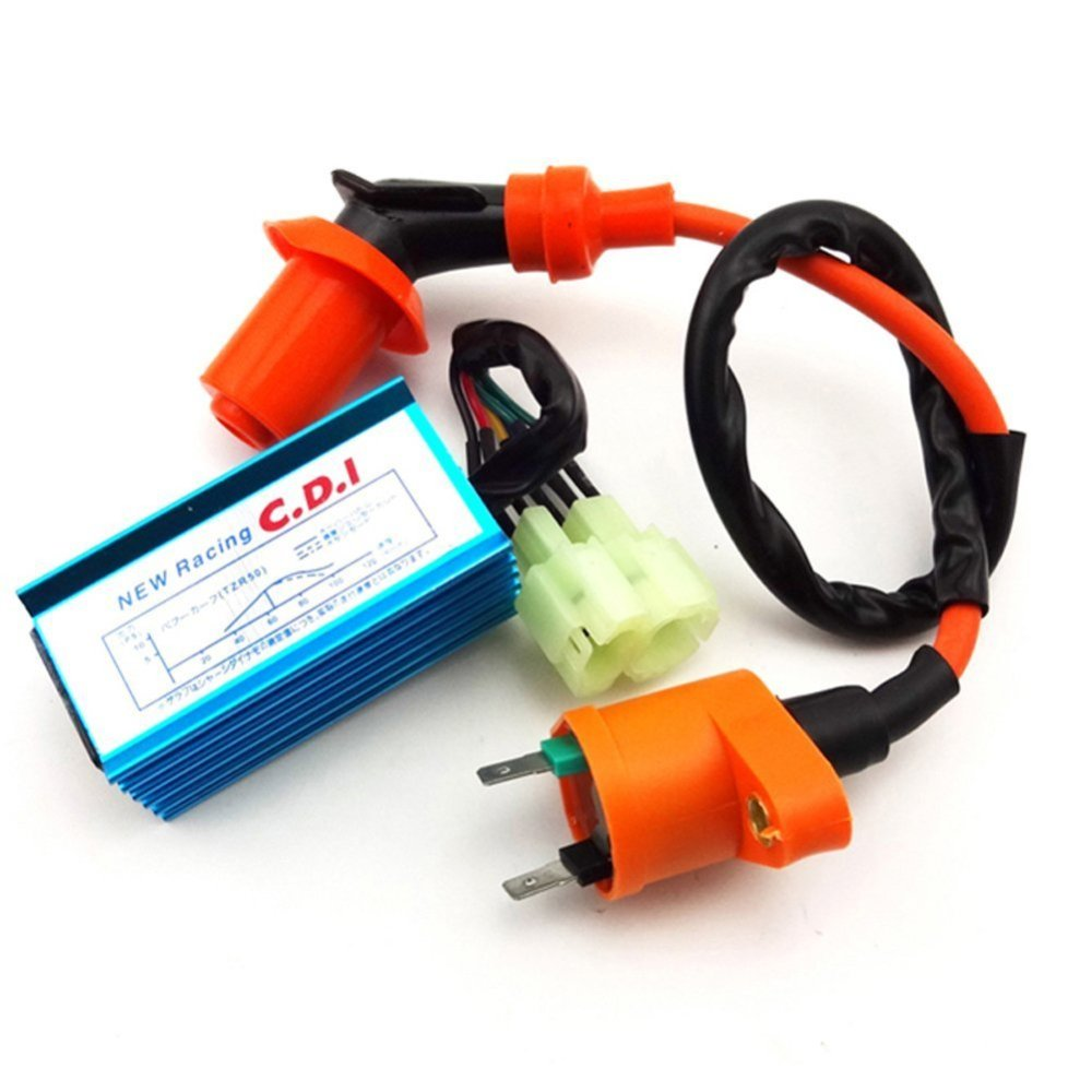 medium resolution of tc motor racing ignition coil 6 pins wires ac cdi box for chinese gy6