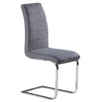 Modern Design High Quality Fabric Metal Chrome Legs Bow
