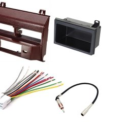 get quotations car stereo radio dash installation mounting kit add on storage pocket wiring harness radio antenna [ 1310 x 1083 Pixel ]