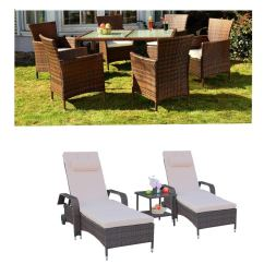 Living Room Furniture Clearance Sale Interior Decorating Placement Cheap Dining Find Get Quotations Leaptime Patio Garden Table Chair Pe Rattan Chaise Lounge Outdoor