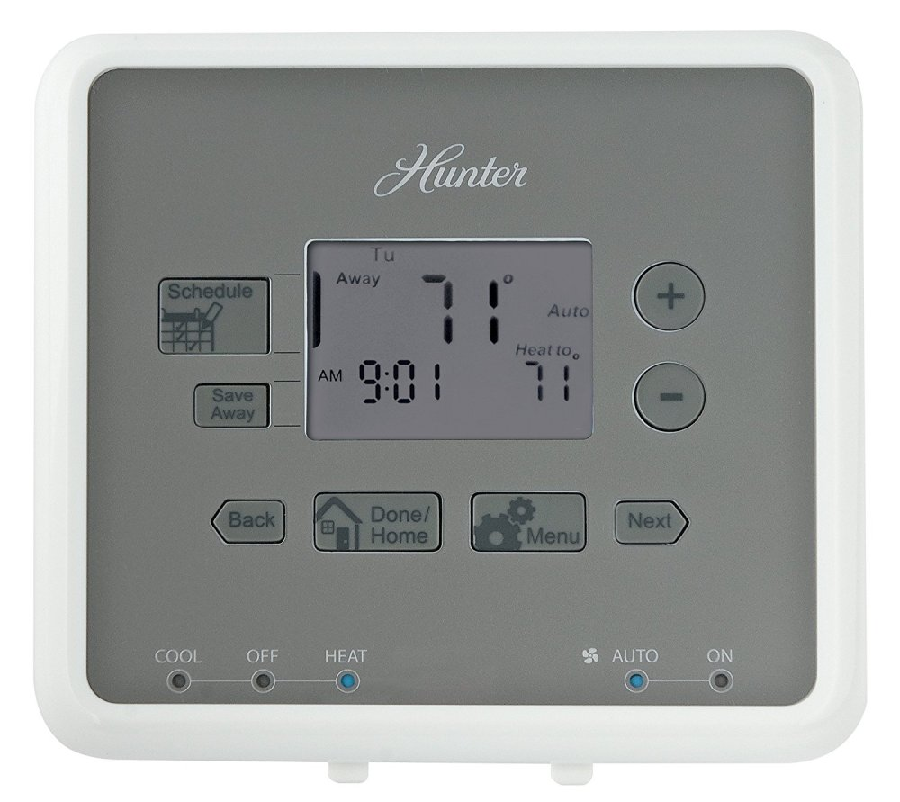 medium resolution of get quotations hunter 44132 5 minute 5 2 day programmable thermostat white