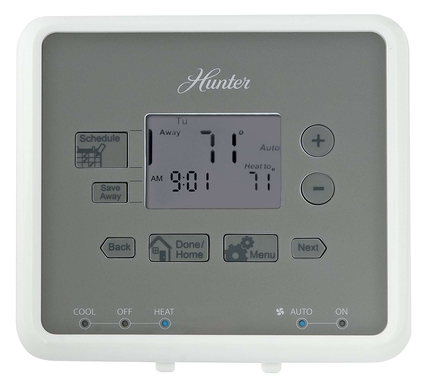 hight resolution of get quotations hunter 44132 5 minute 5 2 day programmable thermostat white