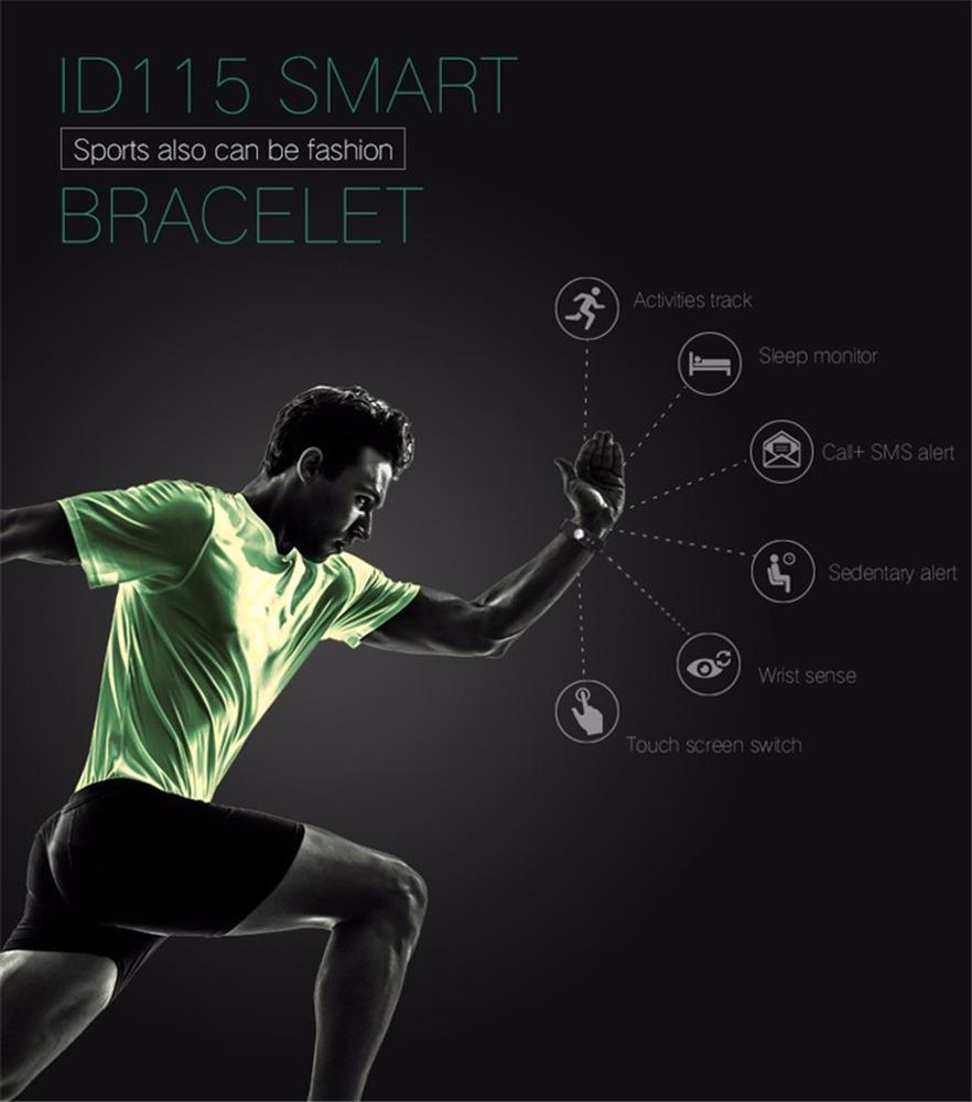 ID115 Smart Bracelet Activity Fitness Tracker watch Vibrating Alarm Clock Smartband pk fitbit mi band 2