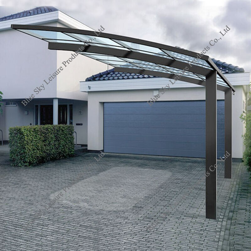 Aluminum Frame Driveway Gate Canopy Carports For Car