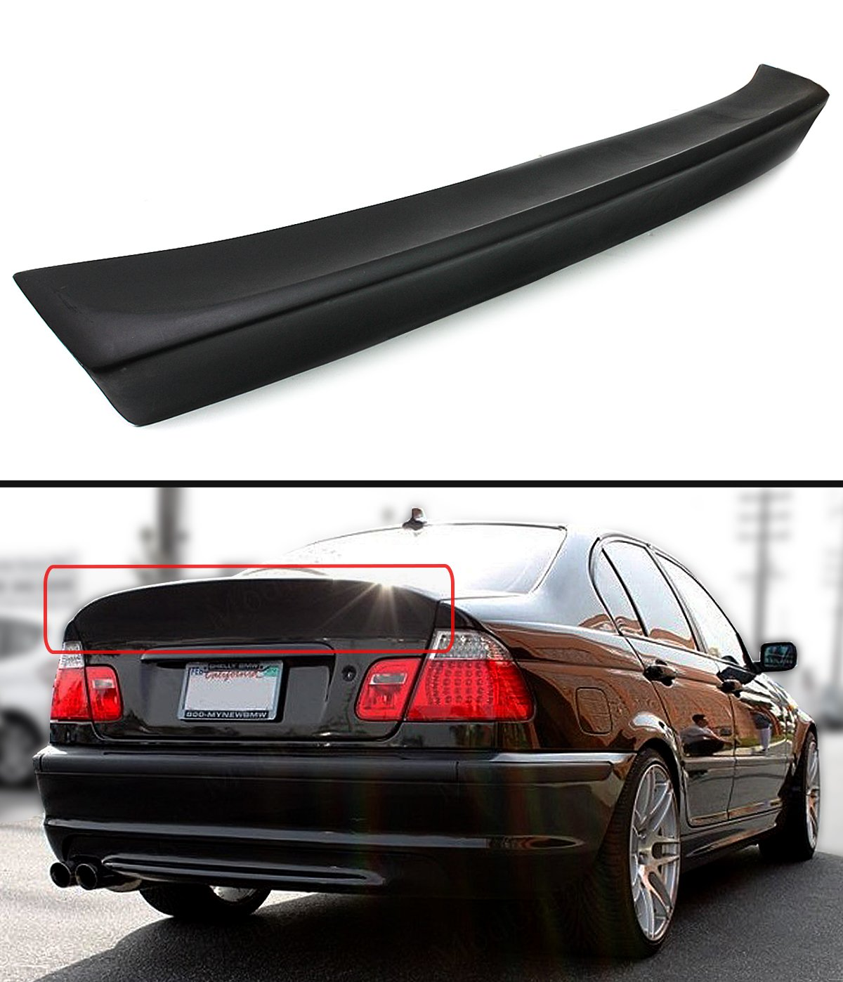 hight resolution of get quotations csl style rear trunk duckbill highkick spoiler wing for 1999 2005 bmw
