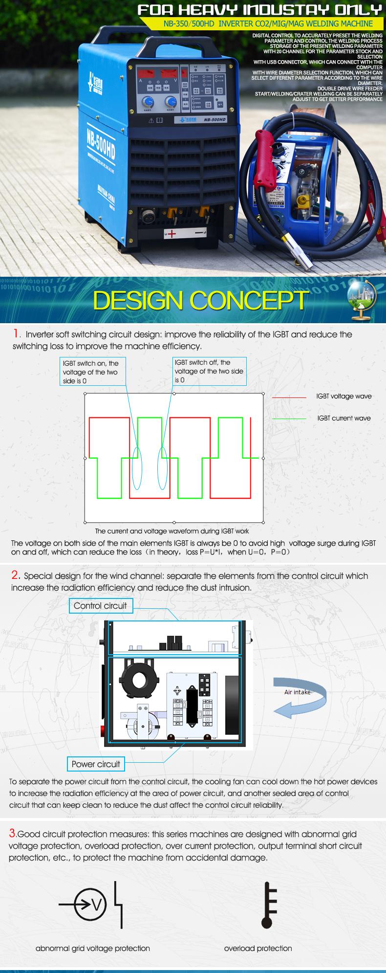 hight resolution of nb 500hd inverter co2 mag mig welding machine