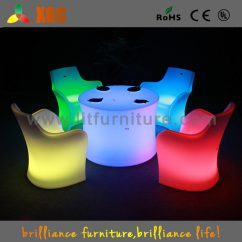Led Table And Chairs Most Comfortable Portable Chair Modern Buffet Sets Plastic Light Up Dining