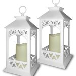 Buy Decorative White Lanterns Set Of 2 Bright White Lanterns With A Led Candle And 5 Hour Timer Indoor Outdoor Lantern In Cheap Price On Alibaba Com