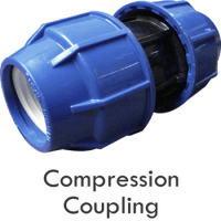 Poly Pipe Compression Coupler,Tee,Elbow Fittings - Buy ...