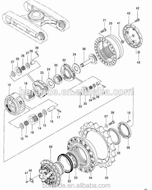 SK330-6E Motor Shaft 2441U1040S9 2441U952S101 SK200