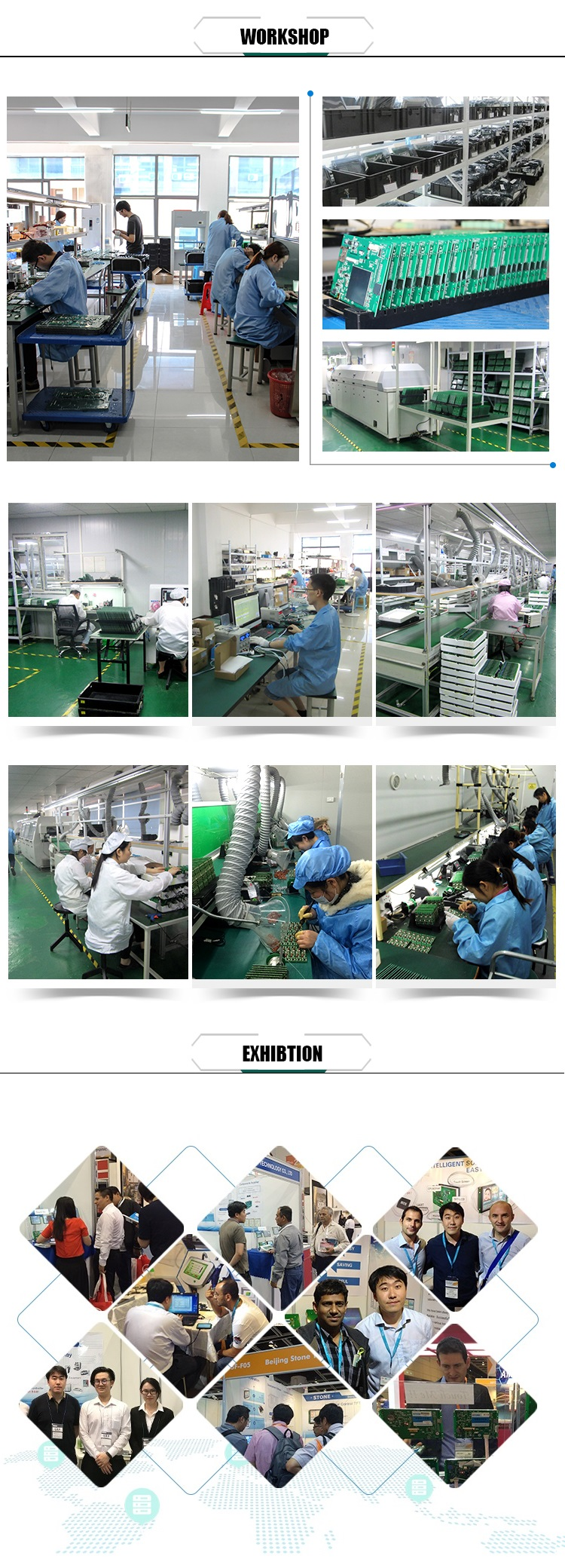 UART LCM 10.1 inch Touch Screen Panel with Smart Controller for Industrial Use