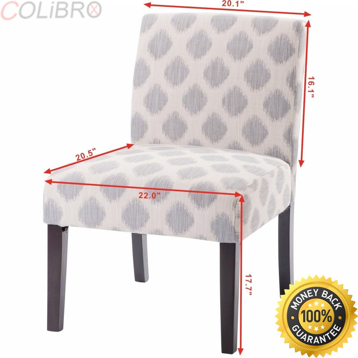 affordable upholstered dining chairs gray target cheap side find get quotations colibrox chair armless linen fabric wood modern living room furniture