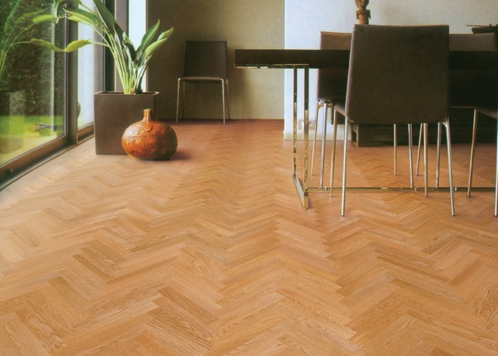 V Shape Flooring Natural Color HerringboneNatural Acacia
