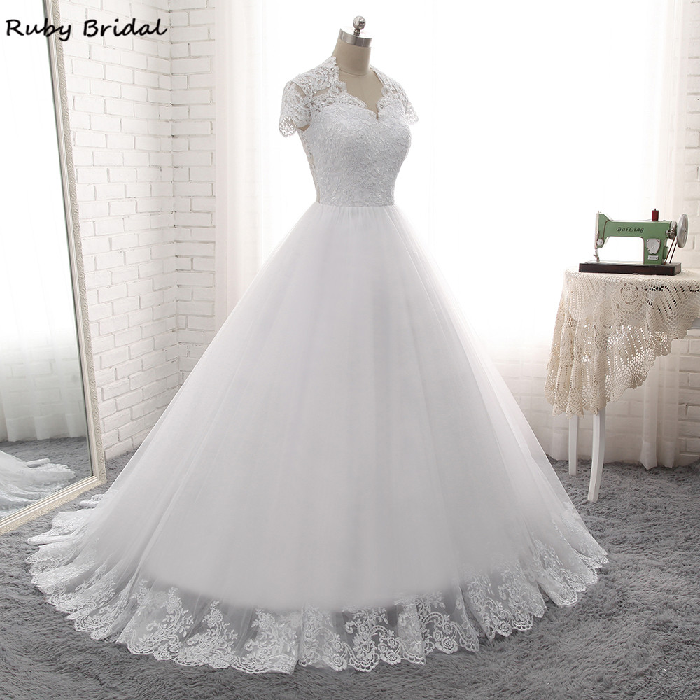 Rubin Braut 2017 Elegante Vestido De Noiva Lange A-linie ...