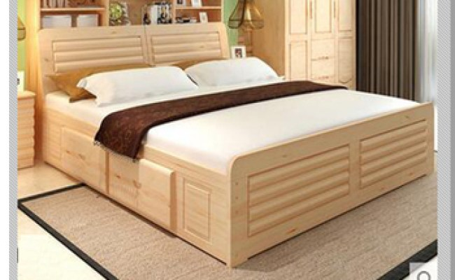 Queen Size Bed Malaysia Style Solid Wood Bed Double Bed