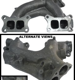 apdty 14002 14c00 exhaust manifold cast iron assembly fits 1986 1989 nissan d21 pickup [ 1396 x 2001 Pixel ]
