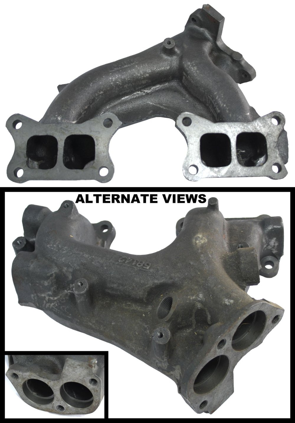medium resolution of apdty 14002 14c00 exhaust manifold cast iron assembly fits 1986 1989 nissan d21 pickup