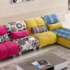 Bright Sofa Baker Leather Sofas Contemporary Style Living Room Set Coloured L Shaped Sectional Couch Leisure Corner