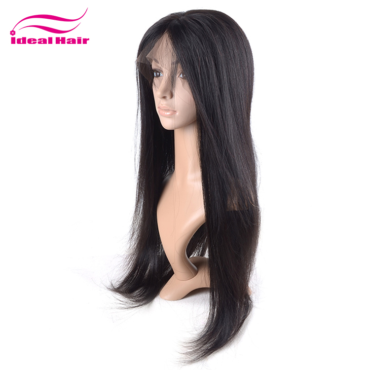 Hot Selling Unprocessed Raw Short Platinum Blonde Full Lace Wig