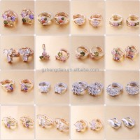 Fashion Earring Designs For Women Jewelry,18k Gold Color