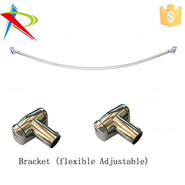 interdesign adjustable nickel curved shower rod buy interdesign shower curtain rod bronze arc shower rod adjustable bronze shower rod product on