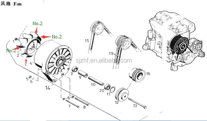 deutz engine spare parts fan driving wheel for deutz FL912