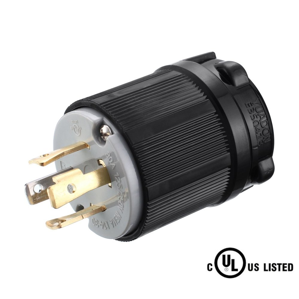 medium resolution of buy miady nema l14 30p generator plug 30 amp 4 prong industrial grade locking male plug up to 7 500w grounding type ul listed in cheap price on