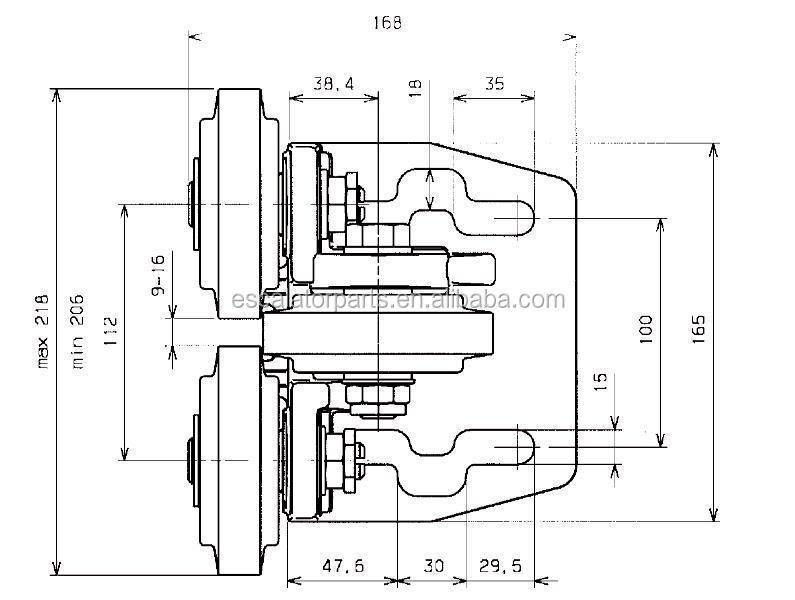 Rtk-100 Elevator Roller Guide Shoes For Elevator Guide
