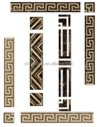 Natural Stone Waterjet Border For Wall,Marble Flooring ...