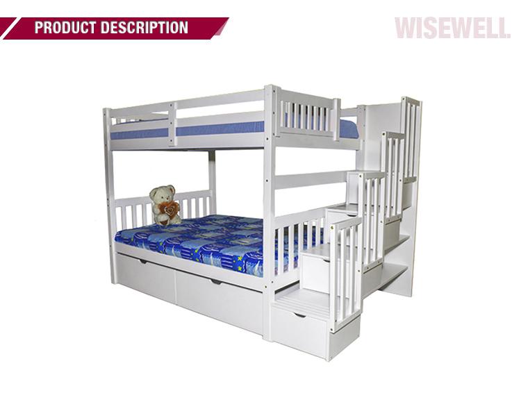 lit double en bois massif wjz b715 lit superpose avec escalier et tiroir buy lits superposes lit superpose complet lit superpose en bois avec