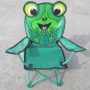 patio chairs for kids sure fit slipcovers wing chair stereo cartoon design beach folding camping