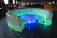 Fashon silln inflable, LED inflatbale sof con mesa-Sofs ...