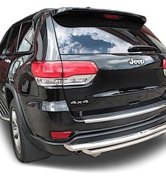 get quotations broadfeet rear bumper guard for jeep grand cherokee 2011 to 2016 stainless steel double [ 1500 x 1143 Pixel ]