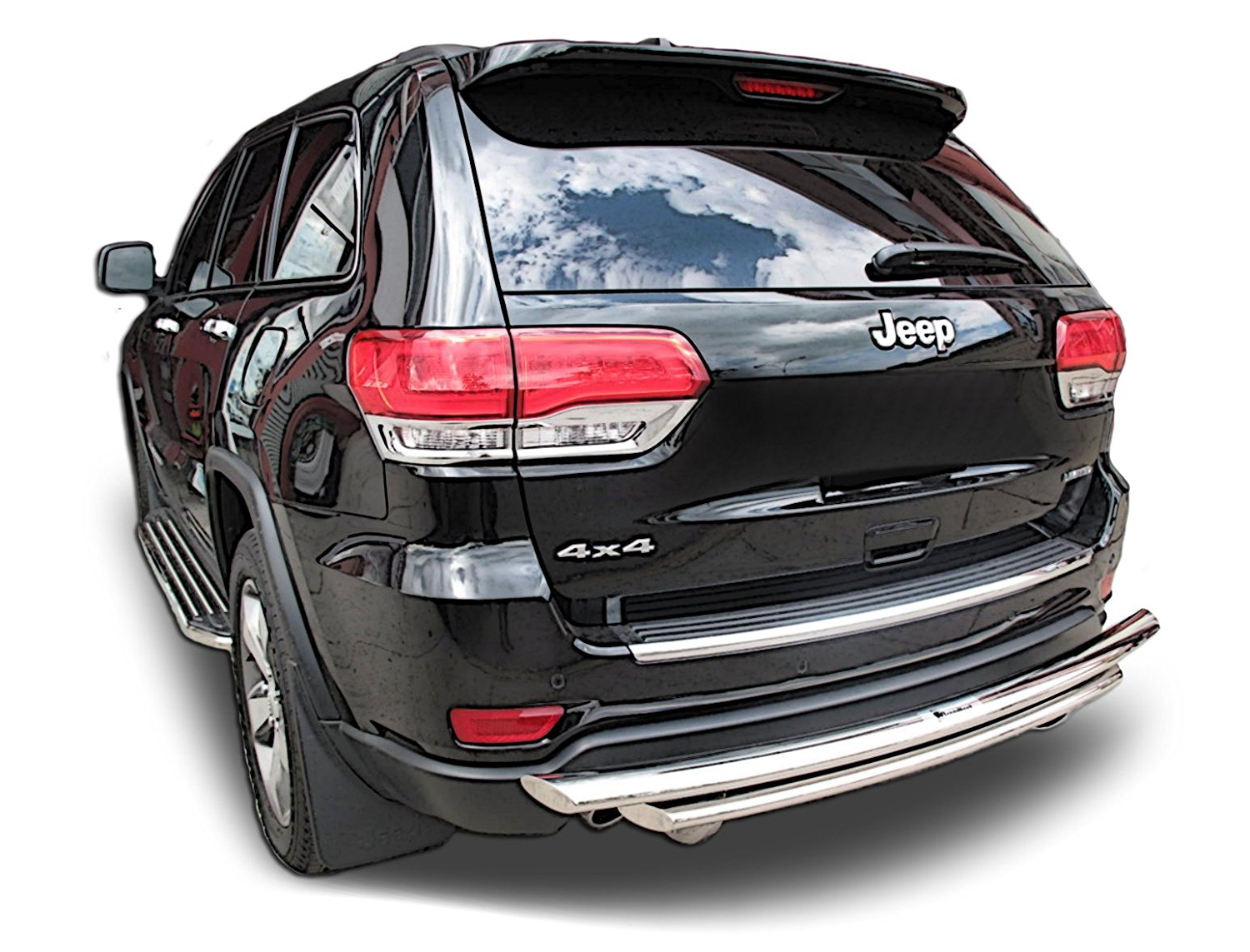 hight resolution of get quotations broadfeet rear bumper guard for jeep grand cherokee 2011 to 2016 stainless steel double