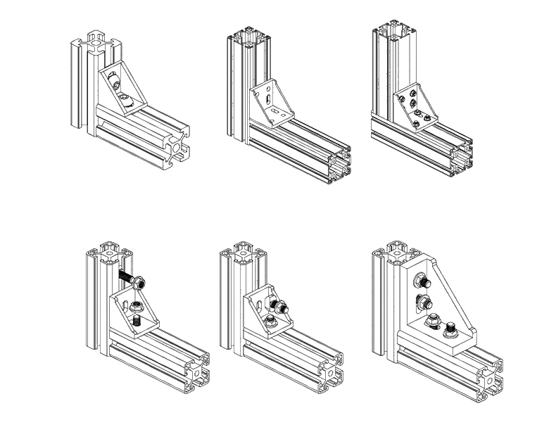 Aluminum Angle Bracket Corner 90 Degree Connector For