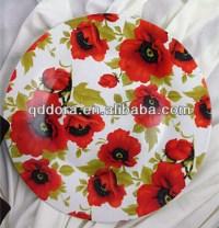 custom printed china plate ,red flower design dinner ...