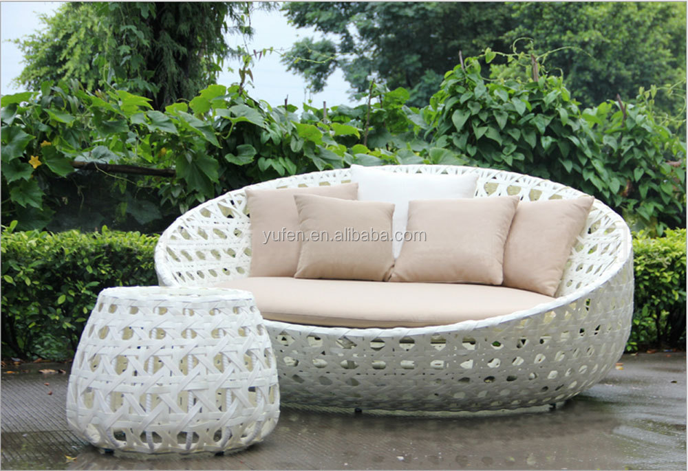 Sole Divertimento Mobili Da Giardino Bianco Rotondo In