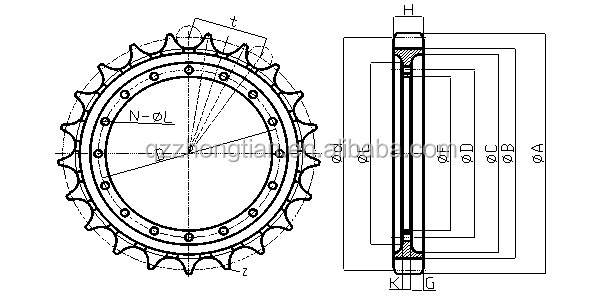 Ex30 Sprocket Idler Undercarriage Parts Excavator Parts