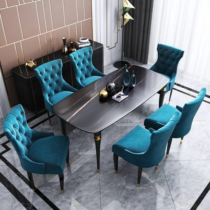Modern Design Dining Room Furniture Gold Steel Frame 6 Chairs Dining Room Sets Buy Dining Room Sets Modern Dining Room Furniture Dining Room Furnitures Product On Alibaba Com