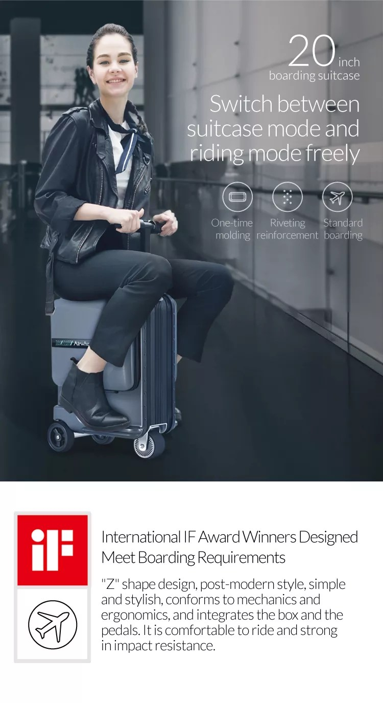 Airwheel New Light Weight Ridable Luggage Scooter with CE