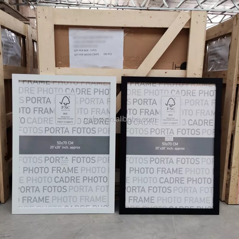 wholesale cheap wood poster frames mdf large sizes wall photo frame 24x36 50x60 50x70 60x80 70x100 a1 a0 buy poster frames wall photo frame large