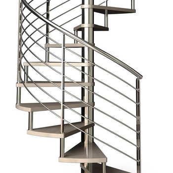 Metal Winding Curved Stair Outdoor Exterior Stainless Steel Spiral | Exterior Metal Spiral Staircase | Interior | Outdoor | Free Standing | Custom Exterior | Model