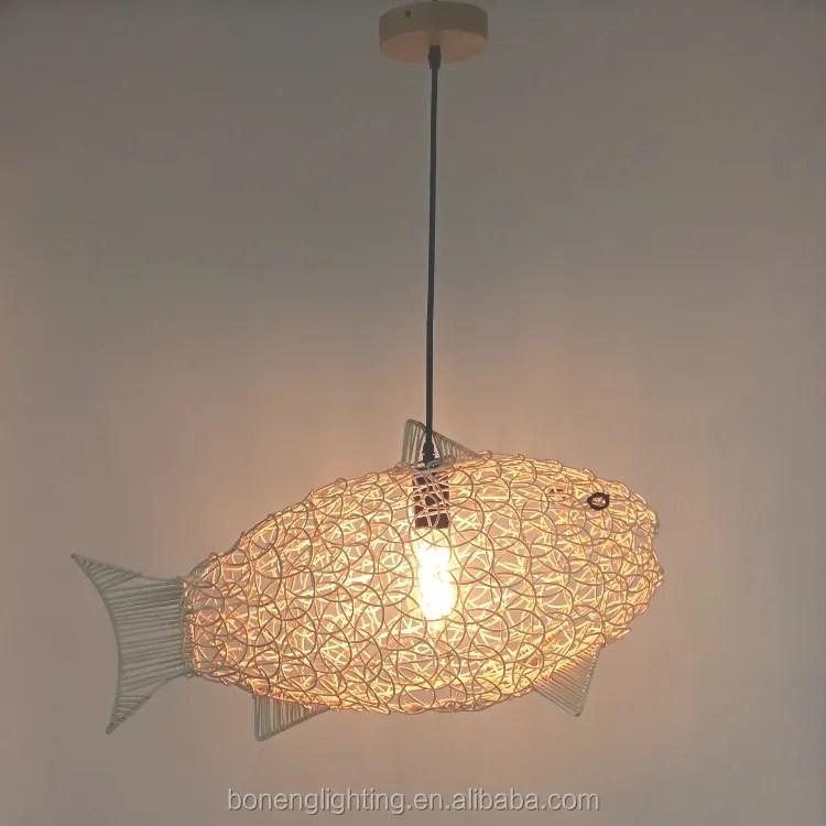 nordic handmade rattan fish shade chandelier lighting natural wicker pendant light buy nordic rattan pendant light rattan chandelier pendant
