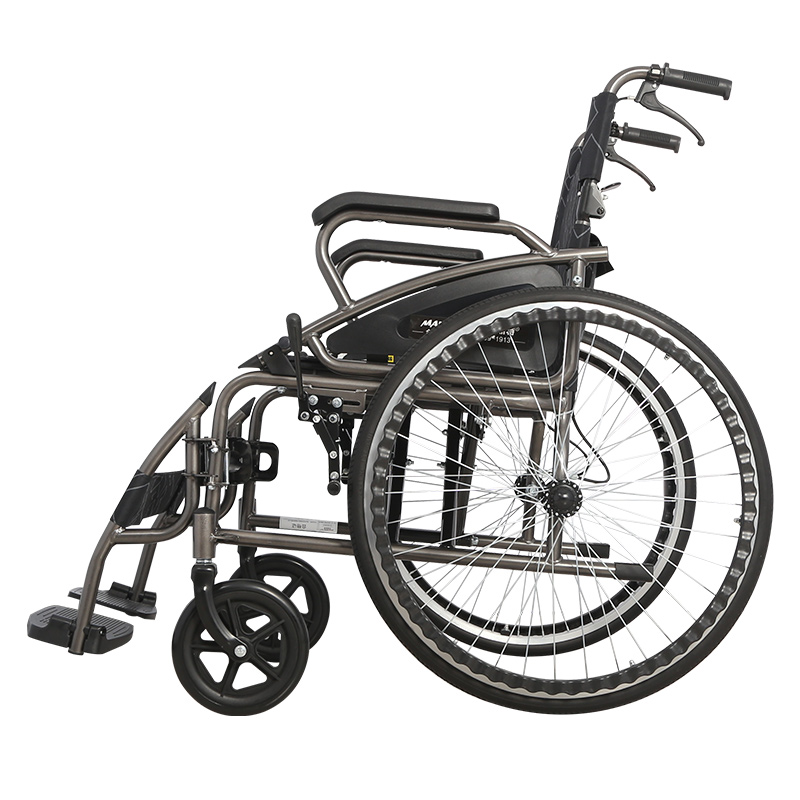 2020 Hot Sale Steel Manual Wheelchair With Big Wheels For