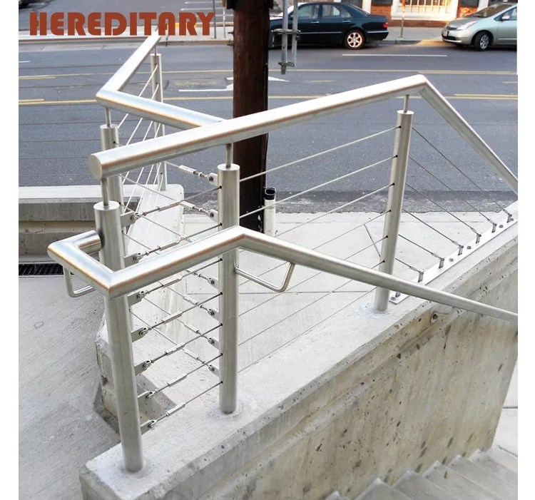 Handrails For Outdoor Steps Steel Grill Design For Terrace | Steel Handrails For Steps | Baluster | Aluminum | Steel Tube | Price | Designing