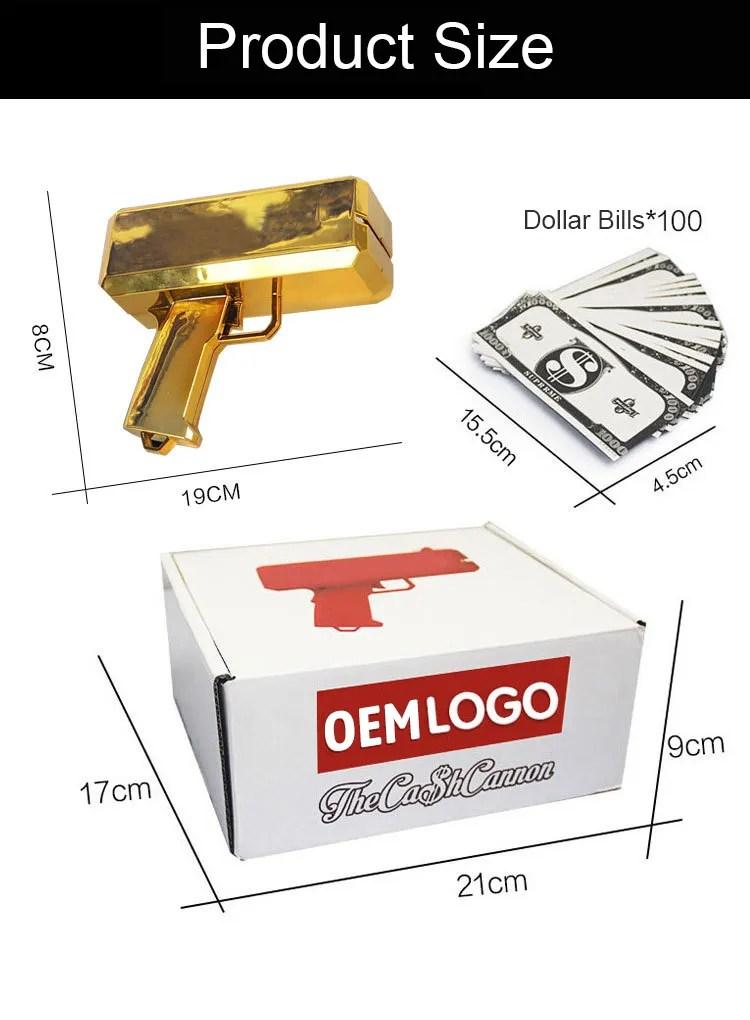 Money Dispenser Gun : money, dispenser, Customized, Metallic, Money, Chrome, Spray, Cannon, Dispenser, Gun,Customized