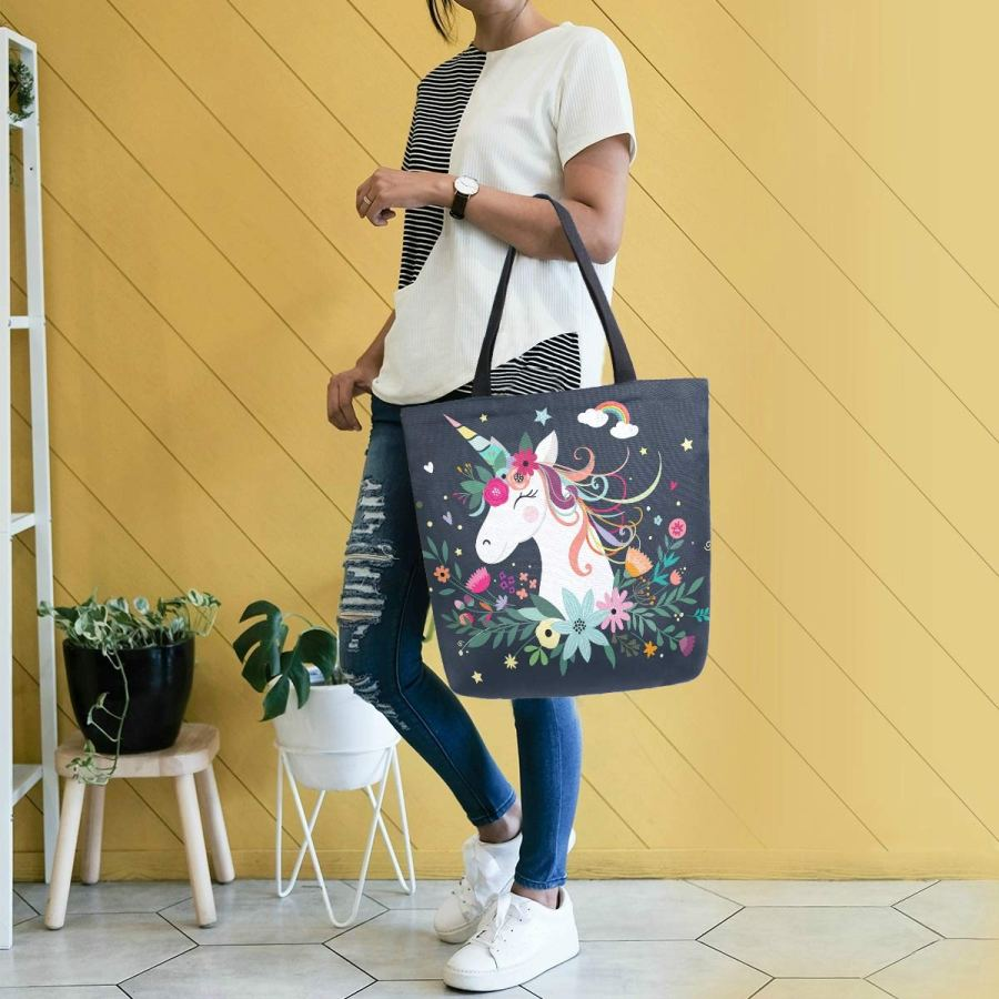Custom Latest Design Canvas Ladies Fashion Tote Hand Bags With Logo Wholesale