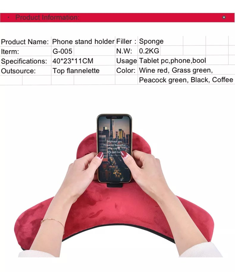 pillow holder for lap tablet or i pad universal phone and tablet holder for bed can be used also on floor desk chair couch buy pillow holder for